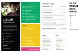 Eye Catching Resumes Eye Catching Resume Templates 24 Landscape CV Template 13