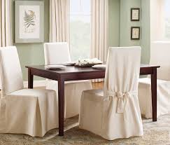 image of white dining room chair slip covers