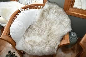 big fake faux sheepskin rug for a throw or blanket mongolian fur