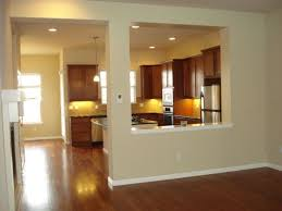 Half Wall Kitchen Designs Half Wall Between Dining And Living Room