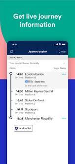 trainline train tickets on the app