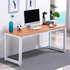 Wood and metal computer desk Design Ideas Yaheetech Modern Simple Design Home Office Desk Computer Table Wood Desktop Metal Frame Study Writing Desk Workstation Walmartcom Walmart Yaheetech Modern Simple Design Home Office Desk Computer Table Wood