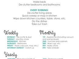 Weekly Household Cleaning Schedule Cleaning Calendar Home Schedule Inntegra Co