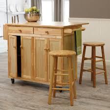 Kitchen Rustic Wooden Kitchen Cart Island Simple Beige Wooden