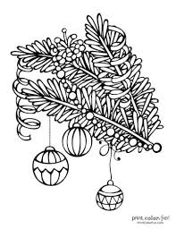 These free, printable christmas coloring pictures are hours of fun for kids! Top 100 Christmas Tree Coloring Pages The Ultimate Free Printable Collection Print Color Fun