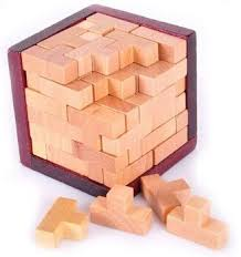 Wooden Brick Game 100D Wooden Interlocking Puzzles Brain Teaser Game wood toys 43