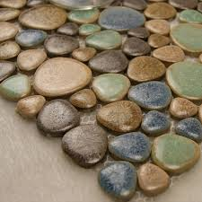 Mosaic Tile Kitchen Floor 25 Interesting Pictures Of Pebble Tile Ideas For Bathroom