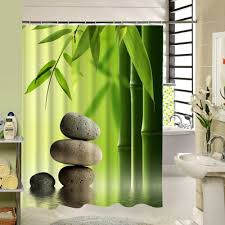 shower curtain shower environmentally friendly. Forest Shower Curtain Green Bamboo Zen Pattern Polyester Fabric Eco Friendly Waterproof Mildewproof For Home Hotel Bath Decor-in Curtains From Environmentally E