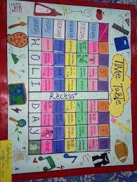 Cute Ideas For Time Table Chart Making