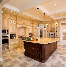 Granite Island Kitchen Stunning Natural Wooden With Dark Painted Panels Kitchen Island