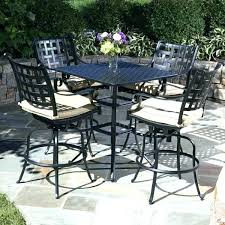 bar table and chairs set outdoor pub best height patio furniture sets with nz plastic c