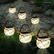 multi color outdoor solar jar design. Thrisdar 3PCS Mason Jar Solar Garden Fairy Light Retro Outdoor Hanging Lanterns Ball For Multi Color Design 0