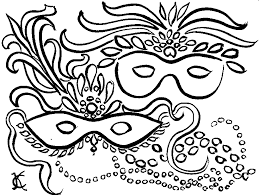 Disegni Maschere Di Carnevale Da Colorare E Stampare Page 2