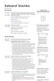 Spanish Teacher Resume Samples Visualcv Resume Samples Database
