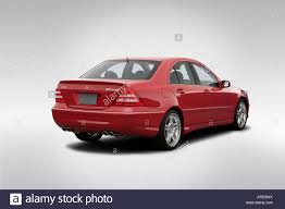 2005 Mercedes-Benz C55 AMG in Red - Rear angle view Stock Photo ...