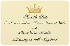 Invitations to the wedding of prince harry and meghan markle have officially been sent. Harry Meghan Start Planning Your Royal Wedding Viewing Party Today Partyideapros Com