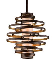 corbett lighting 113 42 vertigo bronze with gold leaf 2 light incandescent pendant undefined