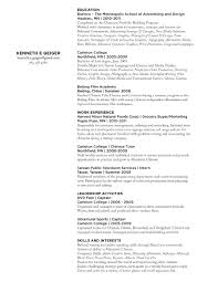 resume for art student resume for study