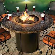 tkc charleston 48 round gas fire pit table in cast top