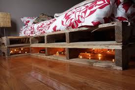 Pallet Bedroom Diy Pallet Bed Attached Night Stands Homemade Food Junkie
