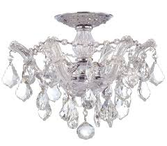 semi flush chandelier semi flush mount crystal chandelier ornate home design ideas coastal chandeliers french rattan