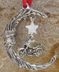 Motorcycle in Moon Christmas Ornament NL-132