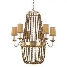acclaim lighting in11405agl anastasia 6 light chandelier in antique gold leaf