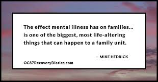 the family and schizophrenia by mike hedrick caring for the person who is suffering is also a major challenge for families it can take years for someone to recover and there s the very real