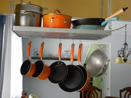 Kitchen Ceiling Hanging Rack Stainless Steel Wire Hanging Pots And Pans Rack Storage And
