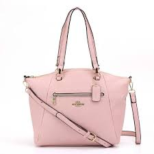 Coach Logo Charm HW306 Satchel In Pink