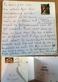 How To Address A Christmas Card Amazing Galway Postman Manages To Deliver Christmas Card