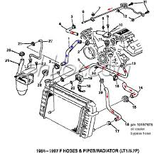 4th gen lt1 f body tech aids drawings exploded views radiator hoses 1995 1997 exploded view