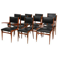 dining set for sale miami. set of 12 carlo di carli walnut dining chairs, italy 1 for sale miami