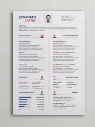 Modern Resume Cv Template Curriculum Vitae Pinterest Modern