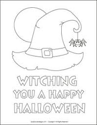 Small Picture Halloween Witch Hat Coloring Pages Festival Collections