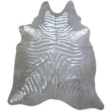 muriel kay silver striped metallic zebra cowhide mkcf1001 32