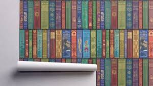 Perfect Vintage Removable Wallpaper for Book and Comic Lovers