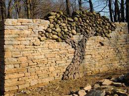Small Picture Creative Stacked Stone Wall Ideas Home Design Garden