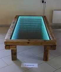 infinity table diy led lighting
