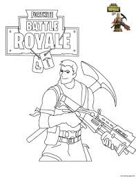 Print Fortnite Battle Royale Coloring Pages