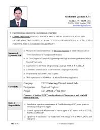 Resume Samples For Electrical Engineering Students Inspirationa With