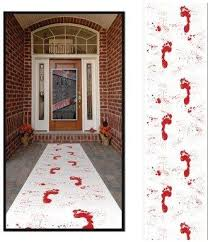bloody footprints door runner
