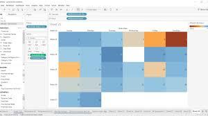 Tableau Tutorial 98 How To Create Calendar Chart In Tableau