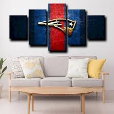 england patriots logo gold wall art