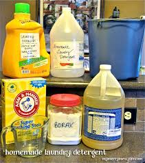 homemade laundry detergent ings and supplies