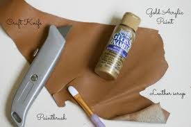 how to make a leather leaf keyring