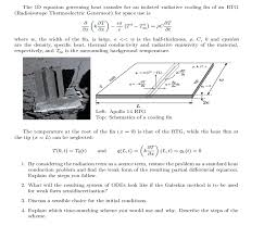question the 1d equation governing heat transfer for an isolated radiative cooling fin of an rtg radioiso