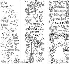 9 Printable Christmas Coloring Bookmarks 6 Designs With Bible