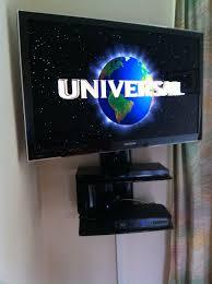 samsung flat screen tv on wall. samsung lcd with 2tier av shelf unit. this tv screen flat tv on wall