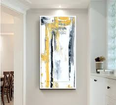 office artwork canvas. Modren Artwork Large Oil Painting On Canvas Abstract Art Modern Yellow Vertical   Office  Intended Office Artwork Canvas